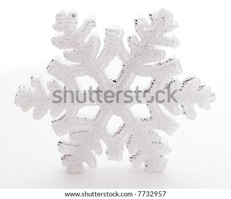 snowflake decoration isolated on white background