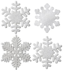 Snowflake Isolated Christmas Hanging Decoration, White Snow Flake Ornament, New Year Toy