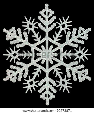 Snowflake on a black background