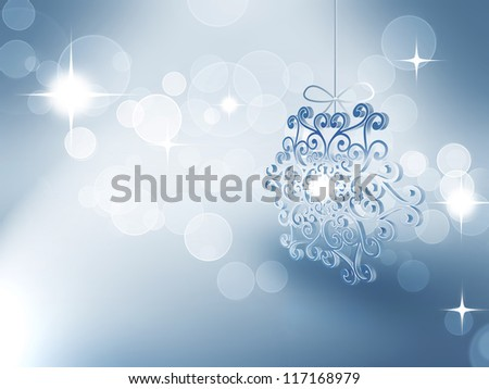 snowflake on a blur light background