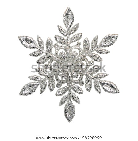Stock Photo Snowflake on a white background