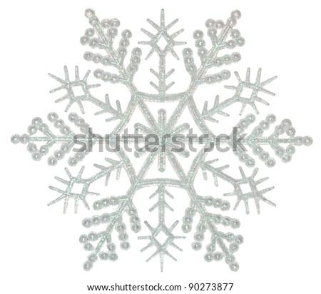Snowflake on a white background - stock photo
