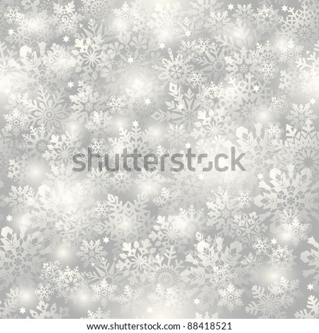 Snowflake seamless background - pattern for continuous replicate. See more seamlessly backgrounds in my portfolio.