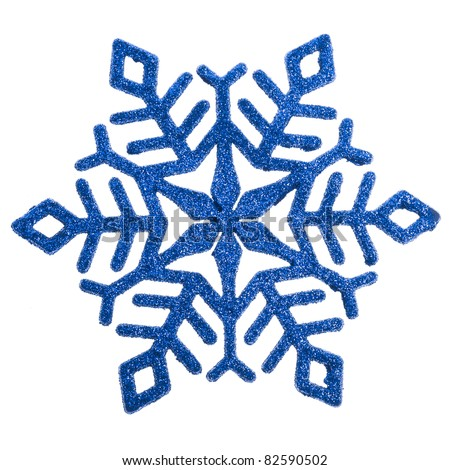 Snowflake shape decoration  included isolated on a white