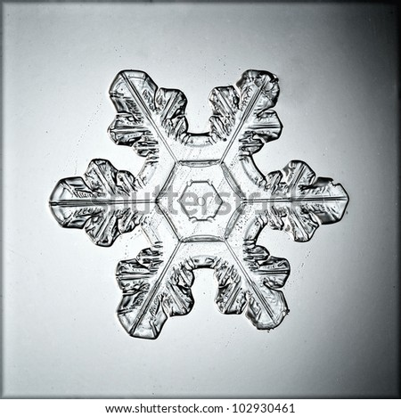snowflake water crystals