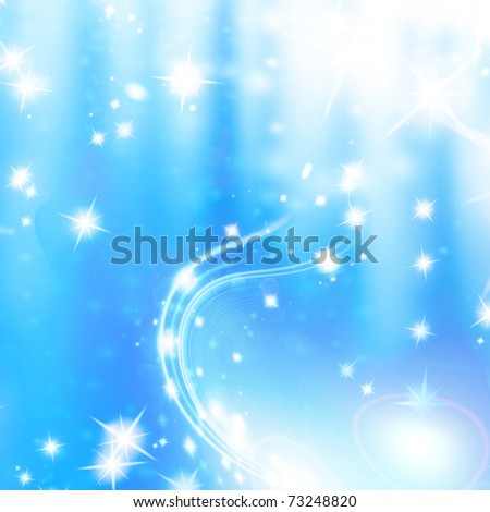 snowflakes and stars on an abstract background