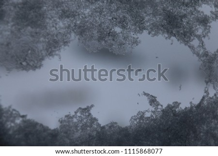 Snowflakes from window #1115868077