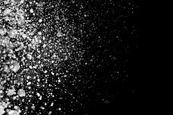 Snowflakes isolated on black background. Design element