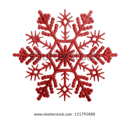 snowflakes isolated on white background