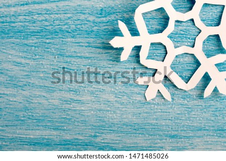 snowflakes. make cut out snowflakes day concept with selective focus. #1471485026