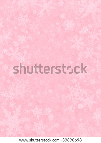 Light Pink Background Images. Snowflakes on a light pink