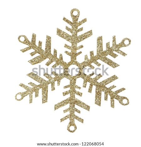 Snowflakes on white background, with clipping path - stock photo