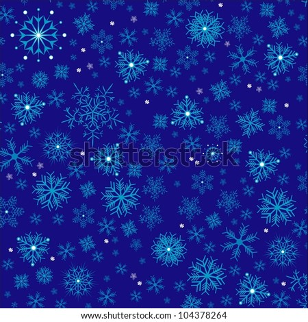 Snowflakes seamless pattern. Illustration