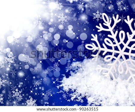 Snowflakes.Winter snow background