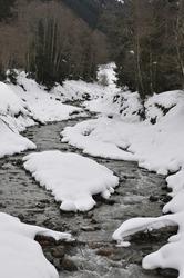 Snowlandscape of Aschau Kirchberg in Tirol