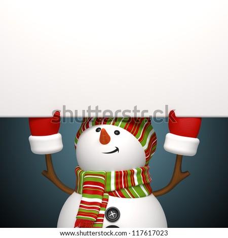 snowman banner - stock photo