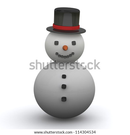 Snowman icon 3d image