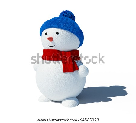 Snowman isolated on white