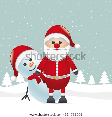snowman red nose look santa claus