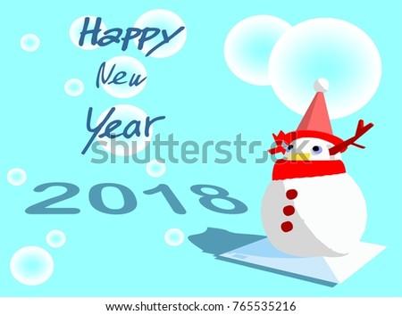 Snowman Santa Deer Christmas Tree Gift Snow Symbol Of Celebrate