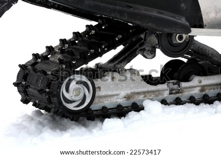 Snowmobile Track in Snow