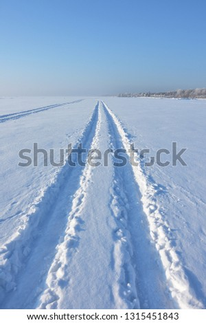 The snowmobile tracks in the snow Images and Stock Photos - Page: 4