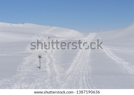 Snowmobile-tracks Images and Stock Photos - Avopix com