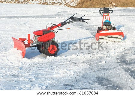 Snowplow for Removing Snow after Winter Storm