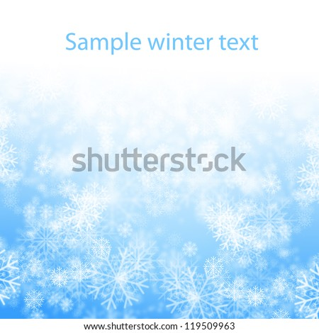snows on blue background