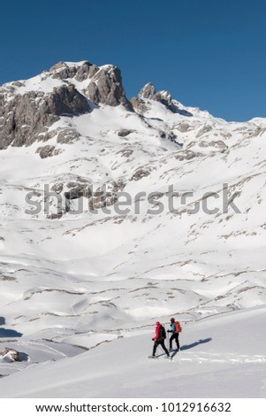 snowshoeing at pics de europa