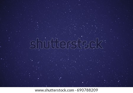 snowstorm in the evening, Christmas background - Shutterstock ID 690788209