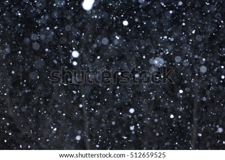 """Snowstorm texture. Bokeh lights and Falling snow on a black background for use as a texture layer in your project. Add as """"Lighten"""" Layer in Photoshop to add falling snow to any image."""