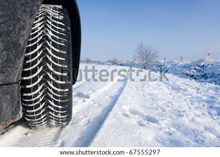 Snowtyre - stock photo