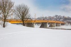 Snowy day in Kaunas
