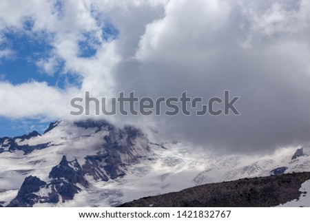 Snowy evergreens & mountain tops. Take a look at these beautiful shots of Washington States Mount Rainier. #1421832767