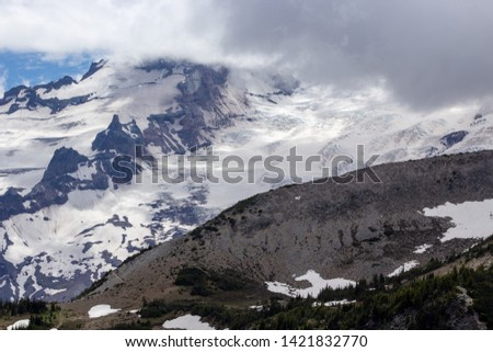 Snowy evergreens & mountain tops. Take a look at these beautiful shots of Washington States Mount Rainier. #1421832770