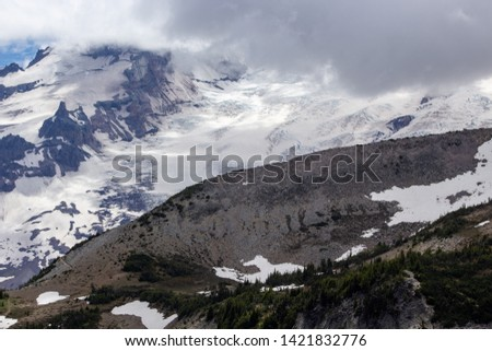 Snowy evergreens & mountain tops. Take a look at these beautiful shots of Washington States Mount Rainier. #1421832776
