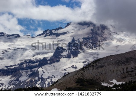 Snowy evergreens & mountain tops. Take a look at these beautiful shots of Washington States Mount Rainier. #1421832779