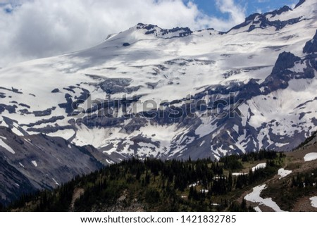 Snowy evergreens & mountain tops. Take a look at these beautiful shots of Washington States Mount Rainier. #1421832785