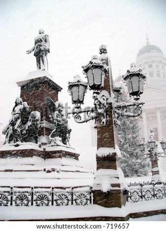 Snowy Helsinki, Finland, Europe