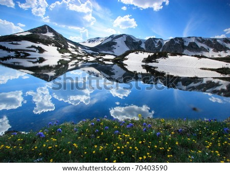 Snowy landscapes in the Medicine Bow Mountains of Wyoming