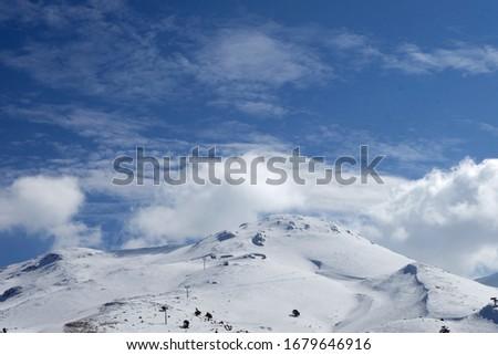 Snowy montain top in winter  Stok fotoğraf ©