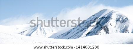 Snowy Mountain Peaks, Large High Altitude Mountains With Blue Sky Background, New Zealand Landscape, Close Up Mountains, Snow Capped Peak, Photos of Snow, Winter Landscape, Snow Background