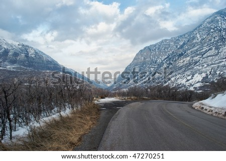 Snowy scene near Sundance Ski Resort in Utah