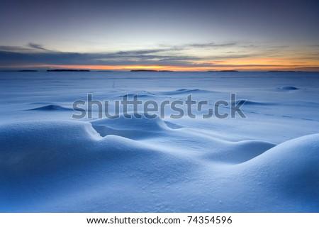 Snowy seascape