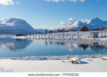 Snowy winter in the Arctic Circle - Shutterstock ID 779438326