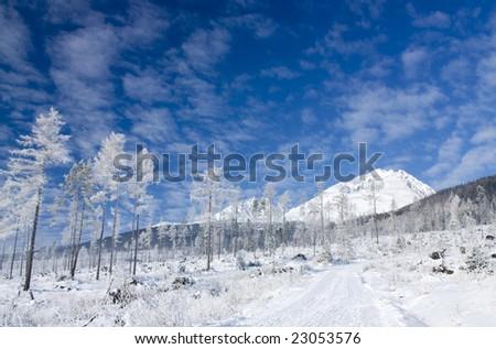 Snowy winter landsape, Slovak republic