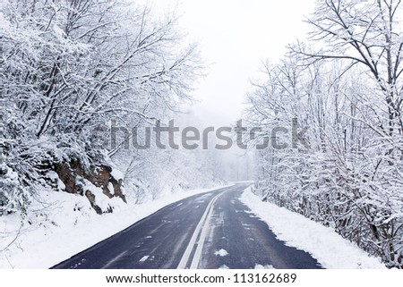 Snowy Winter Road Stockfoto 113162689 : Shutterstock: shutterstock.com/nl/pic-113162689/stock-photo-snowy-winter-road.html