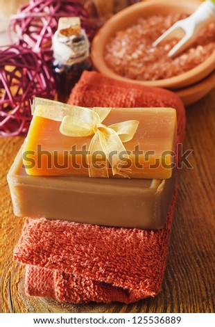 soap and towels