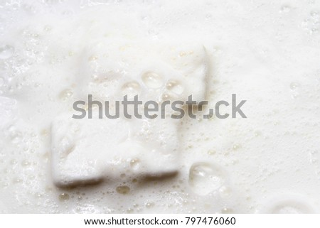 Soap Bar / In chemistry, a soap is a salt of a fatty acid. Household uses for soaps include washing, bathing #797476060